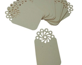 Earring Display Cards - The Pinwheel, Cream Color Heavy Cardstock (15)