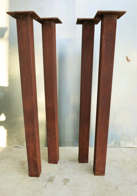 metal tube table legs rusted set of 4