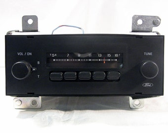 Vintage Car Radio Vintage Ford In-Dash Radio 1960s-70s Hot Rod Rat Rod Classic Car Parts Accessories - Untested - Selling AS IS