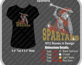Spartans Rhinestone T-Shirt, Tank or Hoodie