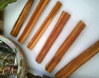 6 sticks Red Cedar Aged Incense  Wood sticks Purify Incense smudge Incense stick