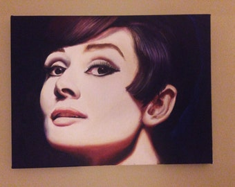 Audrey Hepburn Oil Painting