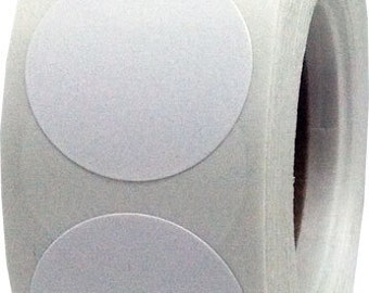 "500 White Envelope Seal Dot Stickers - 1"" Inch Round Adhesive Labels"