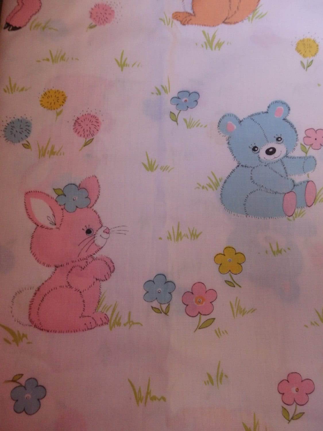 Cute baby animals fabric 2 yards very cute by for Cute baby fabric