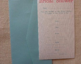 Bridal Shower Invitations 10 Pack