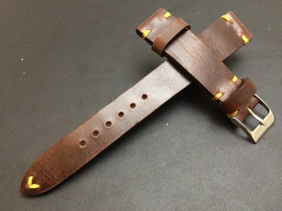 Vintage Leather Watch Strap | Leather Watch Band | Vintage Leather Band | Brown Watch Band for Rolex, IWC and Omega watch - 18mm/19mm/20mm