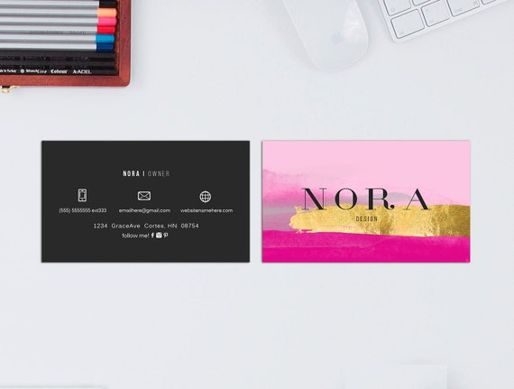 Nora double sided business card Instant