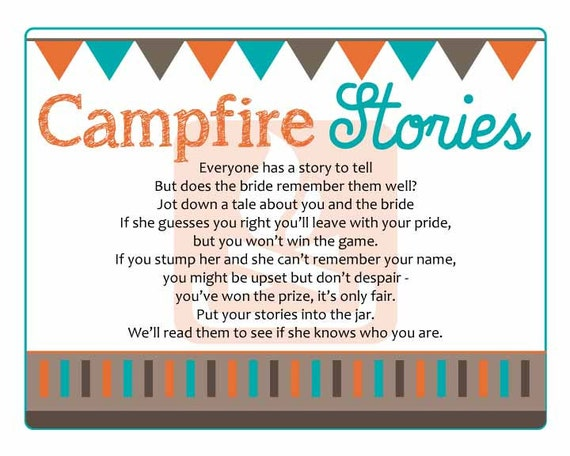 Campfire Stories Bridal Shower Game