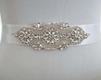 Wedding Belt, Bridal Belt, Sash Belt, Crystal Rhinestone Belt, Style 120
