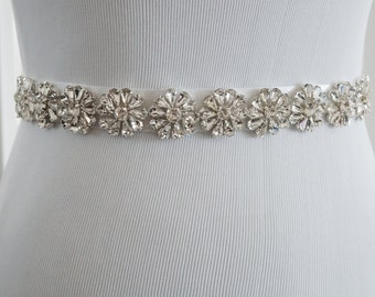 Wedding Belt, Bridal Belt, Sash Belt, Crystal Rhinestone Belt, Style 175