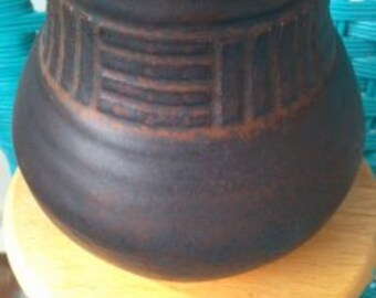 Hand Thrown Pottery...Designed..Clay..One of a Kind Piece..vintage 1980s
