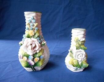 Two small Elfinware vases