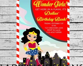 Wonder Girl Invite