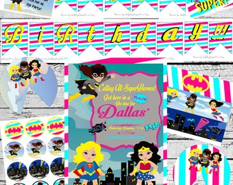 The Ultimate Super Girl or Bat Girl Party Package