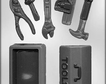 3D Tool Box Chocolate Candy Mold Carpenter Construction Builder Building