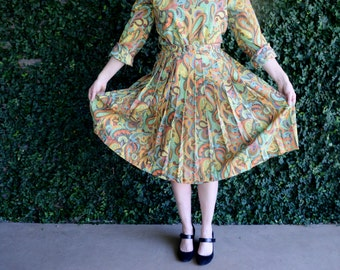 Bright Vintage Paisley Dress