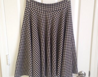 Houndstooth Twirl Skirt Size XS, S, M, L