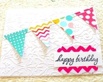 Friend Birthday Card, Best Friend birthday card, Happy birthday card, Teen birthday, birthday card Friend, Bunting birthday card, bday cards