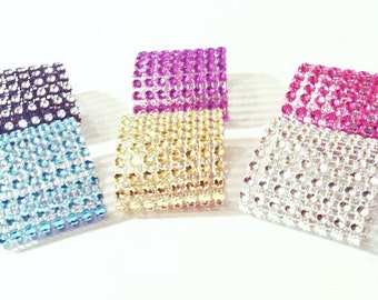 Bling Napkin Rings Rhinestone Napkin Rings Bling Napkin Holders Diamond Crystal Special Event Rhinestone Napkin Rings