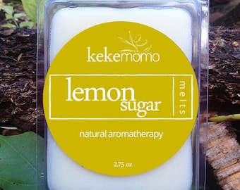 Lemon Sugar Wax Melt, Handmade and Natural, 2.75 oz