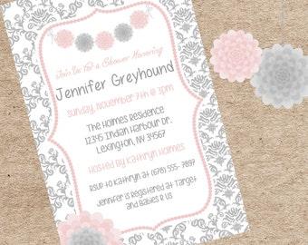 Baby Girl Baby Shower Invitation Elegant