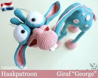 "005NLY Giraf ""George"" - Amigurumi Haakpatroon - PDF by Astashova Etsy"