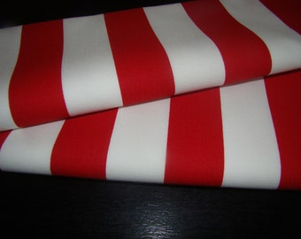 Beautiful Wedding Table Runner in Christmas Red White Stripe, Christmas Wedding, Holiday Dinner Table, Custom sizes available