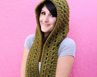 Crochet Pattern - Fireside Scoodie - PDF