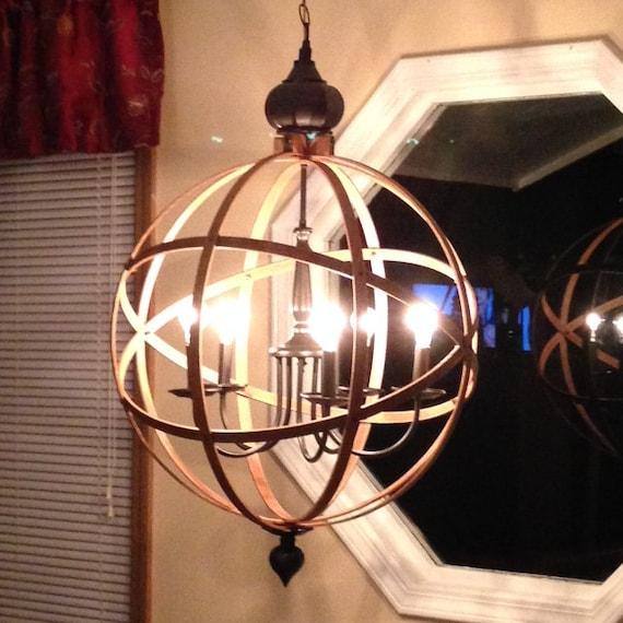 Orb Chandelier Light 23 Atomic Light By Wonderlusthomedecor