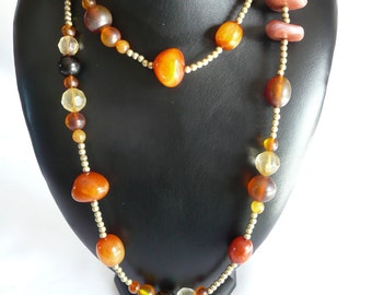 Vintage Long Beaded Necklace
