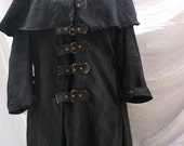 Van helsing style coat black. long. This one is  xxl but sizes  and colours are available to suit you