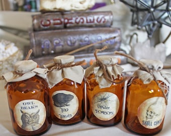 Set of Potion Bottles Round Labels (4)