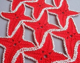 PATTERN Crochet doily with Star lace doilies doily tablecloth  napkin  handmade doilies Crocheting