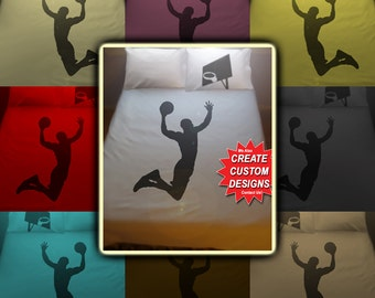 Sport Basketball Bedding Duvet Cover Queen King Twin Size, Queen Bedding, King Bedding Twin, Kids Queen Duvet Cover, Linen Cotton Sheet Set