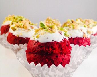 6 Pistachio Red Velvet Cake Balls