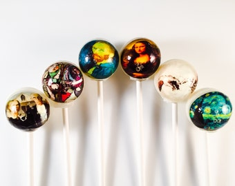 6 Art History Hard Candy Lollipops