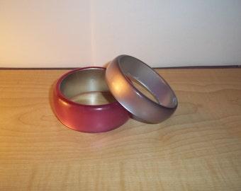 Vintage Acrylic Bracelets set of 2