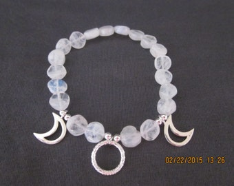 Moonstone Goddess stretch bracelet
