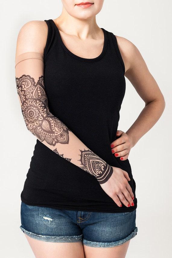 mandala unisexe ornement maille tatouage manche tatouage. Black Bedroom Furniture Sets. Home Design Ideas