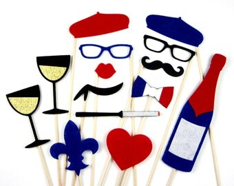 Fun Photo Booth Props for Your Next Big Event - French Themed and Fabulous