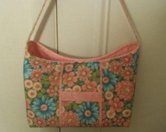 Multi Color Floral Handbag