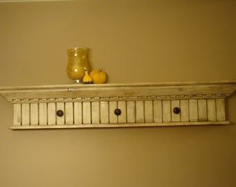 Distressed Mantle Decor Shelf with Custom Crown and Trim