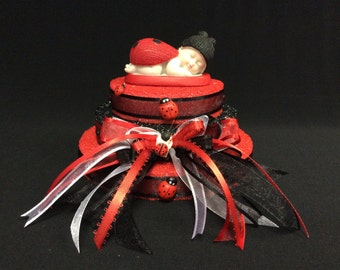 Lady Bug Baby Shower Cake Topper Decoration Gift Baby Girl