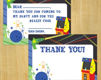 Printable Matching Game Invitation Thank You Cards