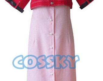 Final Fantasy VII 7 Aerith Dress Cosplay Costume