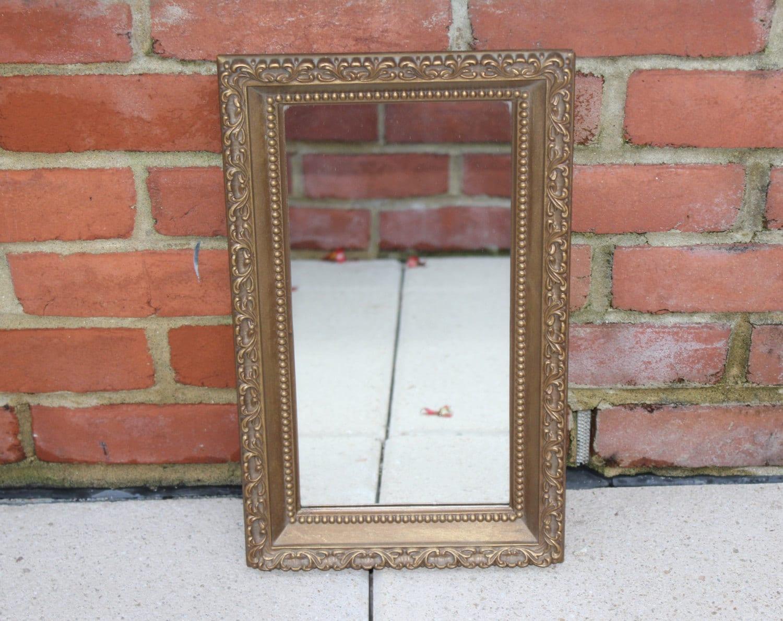 Vintage Gold Ornate Turner Rectangular Mirror Or By