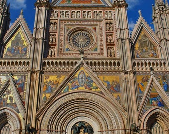 Landscape and Architecture Photography - Streets of Orvieto - Cathedral - Umbria Italy - Italian Photography - Wall Art-Fine Art Photography