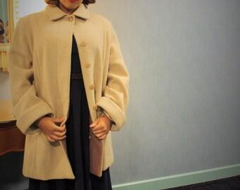 Vintage cream color  Pea coat.
