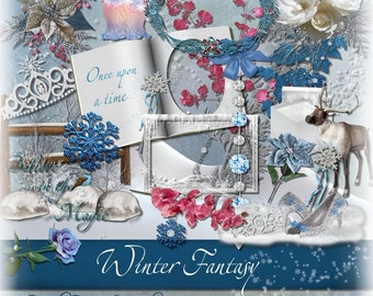 Christmas & Winter Digital Scrapbooking Kit