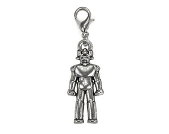 Doctor Who Cybermen Charm with Lobster Clasp Fits Charm Bracelets